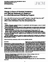 Change in sense of nondual awareness and spiritual awakening in response to a multi-dimensional wellbeing program